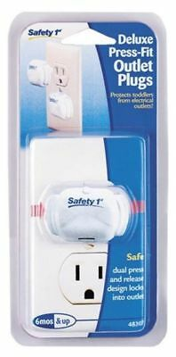 Safety 1st Deluxe Press Fit Outlet Plugs (Pack of 8) NEW