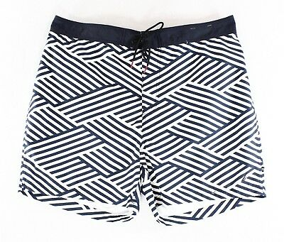 Nautica NEW Blue White Mens US Size 2XL Drawstring Board Surf Shorts $55 #309