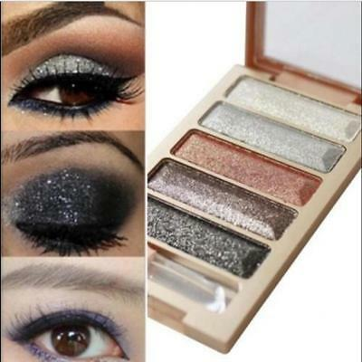 5Colors Pigment Eyeshadow Palette Eye Shadow Metallic Shimmer Makeup Beauty Pro