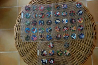 Dragonball Z Tazos,series 2,octagonal,incomplete Setof 47,never Played,holos