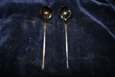 OLD 19th CENTURY ANTIQUE OTTOMAN TURKISH ANTIQUE A PAIR OF HORN SPOONS