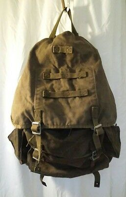 ☆ German Military Rucksack - 1954 - Canvas with HUEWA Aluminium Shakles ☆