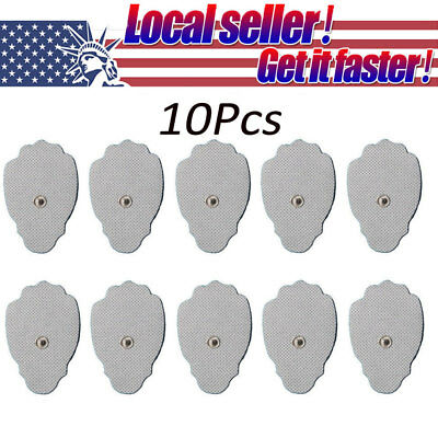 10/20 or 40 Snap On Replacement Pads For Electrode TENS Unit & Pulse Massager US