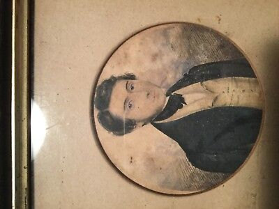 Miniature water coulour dated 1841 portrait of Mr George Bennett