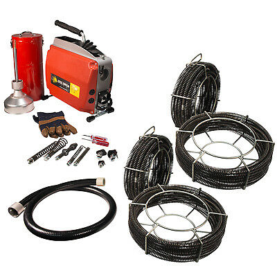 Steel Dragon Tools® K60 Drain Cleaning Machine with Extra C8 & C10 Cables
