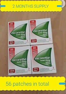 56NICORETTE PATCHES 25mg STEP 1. Two MONTHS SUPPLY. (QUIT SMOKING TODAY)