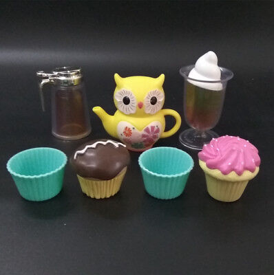 """7pcs American Girl Doll Cupcake Teapot ice cream for 18"""" Doll Accessories set"""