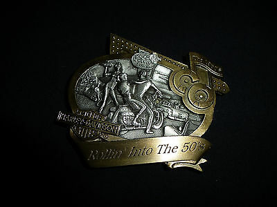 Harley Davidson Buckle neu Gürtelschnalle 1998 Decade Coll. Series the 50´s rar