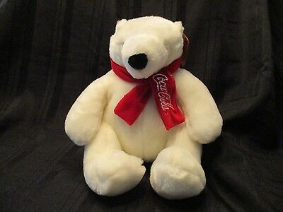 """Coca Cola Boyds Bear with Red Scarf  Seated 10"""" Tall  New with Tags"""