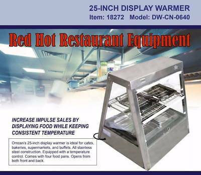 Omcan 18272 Stainless Steel Hot Food Warmer Glass Display Case DW-CN-0640