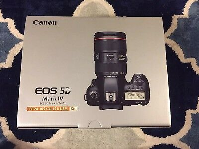Canon EOS 5D Mark IV 30.4MP Digital SLR Camera - Black (Kit w/ EF 24-105mm f/4L