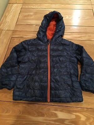 Boys Uniqlo Jacket Size 3-4yrs Down Filled Padded Navy Blue Lightweight Casual