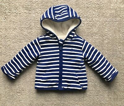 Joules Reversible fleece Jacket Baby Boy 12-18 Months