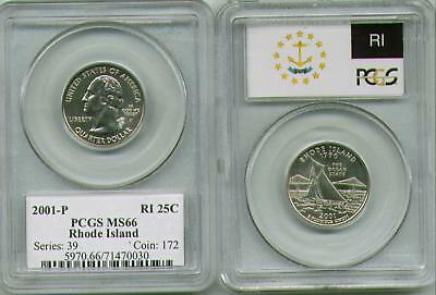 2001-P Rhode Island MS66 PCGS Quarter FLAG -from a roll ~VERY CHEAP~FREE SHIP~