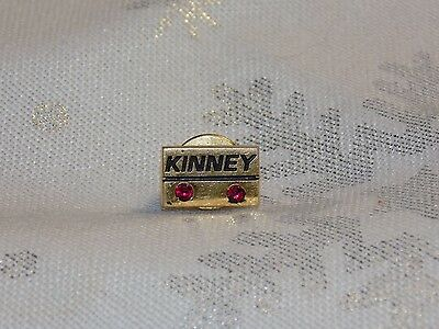 Vintage 10 kt Solid Gold KINNEY Ruby  Tie Pin Employee Service Pin