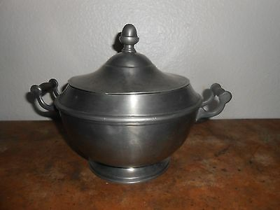 Antique 19th Century PEWTER COVERED POT or TURREEN w/BritishTouchmarks