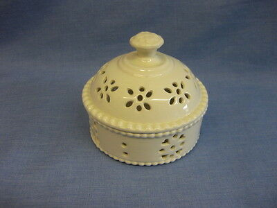 Royal Creamware Lidded Pot ~ Pot Pourri ~ Fine China ~ Occasions