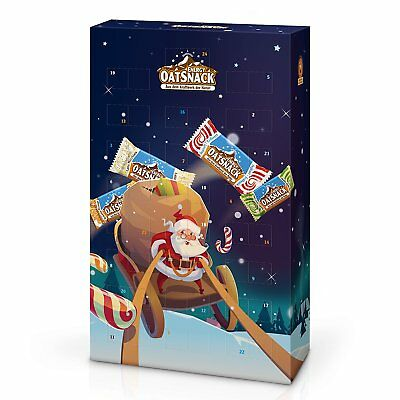 Energy Oatsnack Adventskalender, Energieriegel, 24 Riegel, MIX-BOX!! 18,4€/kg