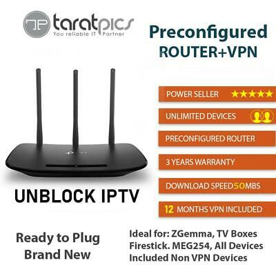 Preconfigured VPN Router + 12 Months Account + Ready To Plugin and Use