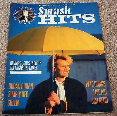 Smash Hits – 3.7.1985 – Howard Jones, Duran Duran, Simply Red, Green, Pete Burns