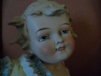 Vintage Bisque Porcelain Baby Piano Figurine With Gilt Beaded Enamel Free Shippi