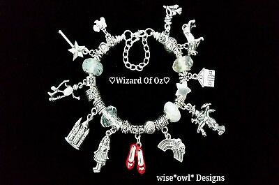 Wizard Of Oz Charm Bracelet.13Th,16Th,18Th,21St,30Th,40Th Gift. Free Gift Box