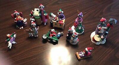 Lot of 10 Hallmark Maxine and Floyd Keepsake Ornament Christmas Shoebox