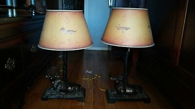 Matching Wildlife Moose Lamps From Big Cedar Lodge. Used Good Shape.