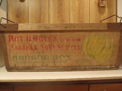 antique banana box wood and steel Roy O'Brien Halifax Chicago Mill & Lumber rare