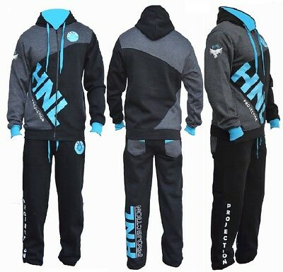 BOYS/GIRLS Designer TRACKSUIT ZIPPED TOP BOTTOM KIDS  SUITS  AGE 7-14 (Black)