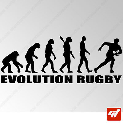 sticker autocollant evolution rugby homme decal sport ballon peganitas - STF465