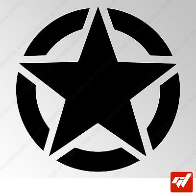 sticker autocollant etoile star us army armee tuning 4x4 airsoft decals - STF447