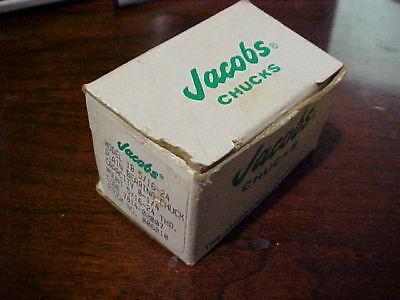 Jacobs Chuck No 1B Cap 0-1/4 THD 5/16-24 and Key Plain bearing chuck new in pkg