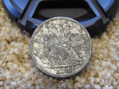1876 S  SEATED LIBERTY Counterfeit FAKE HALF DOLLAR NOT SILVER LOOKS OLD