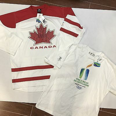 Team Canada Vancouver Olympics Hockey Jersey And Torch Relay Lot Brand New