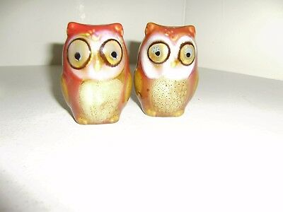 Owl Salt/Pepper Shakers unused missing box