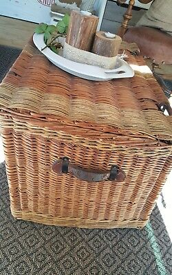 Antique/Vintage Wicker Trunk -European- Large Size,Collectors, Decorators Item