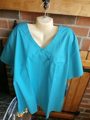 Landau V-Neck Scrub Top Size XL    NEW WITH TAGS