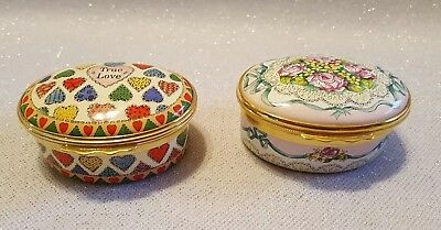 Collection of vintage Halcyon Days Enamel Boxes-2 total