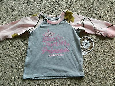 "Realtree ""Daddy's Hunting Princess"" girls size 4T LS gray T-Shirt w/camo sleeves"