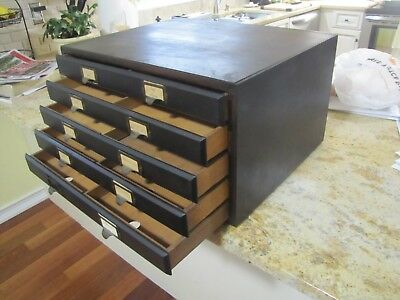 Weis Top Section Stacking Small Map File Drawers