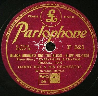 Schellackplatte Harry Roy - 2 flotte Foxtrots  - Hot Dance Music England 1936