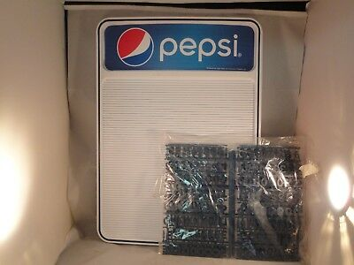 Pepsi Cola Menu Board With Letters New Fast Shipping