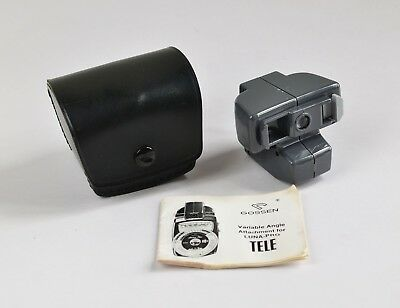 Gossen Variable Angle TELE Attachment for Luna Pro Light Meter w/Case and Manual