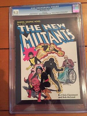 Marvel Graphic Novel # 4 Origin 1st App New Mutants CGC 9.2