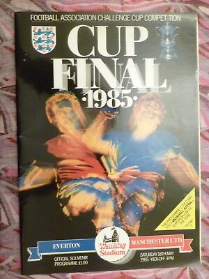 1985 FA Cup FINAL EVERTON v MANCHESTER UNITED - 18th May