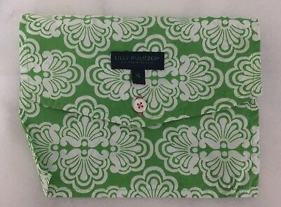 Lilly Pulitzer Lingerie Jewelry Travel Pouch Envelope Bag Clamtastic