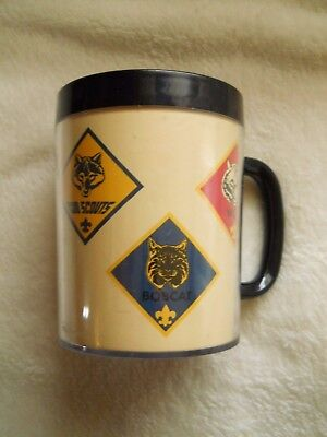 Vintage Thermo Serv Cub Scout Boy Scout Coffee Mug Cup