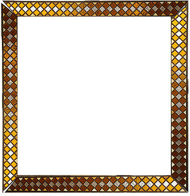 """40""""x40"""" 4pc Vintage Antique Leaded Stained Glass Picture Frame Wall Art Decor"""