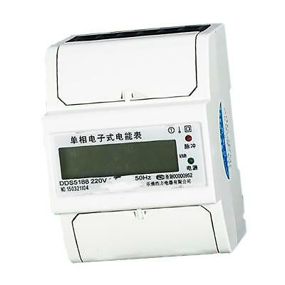 50Hz Single Phase DIN Rail kWh Watt Hour Energy Meter LCD Display 20(80)A